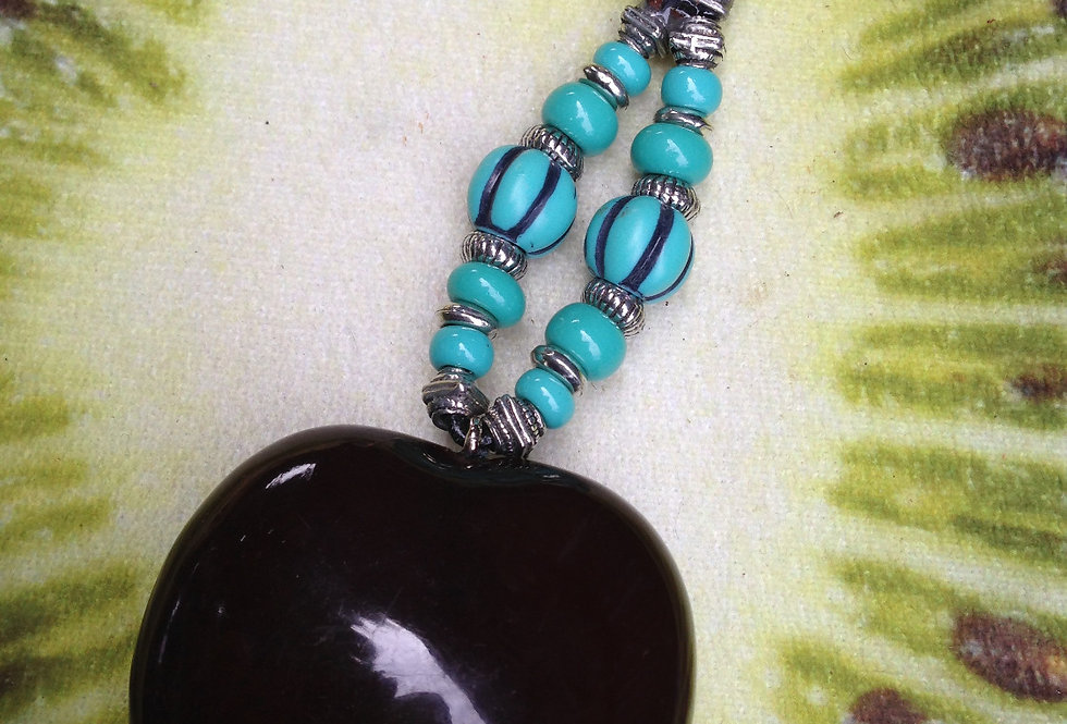 Mexican Turquoise - SeaHeart Key Chain