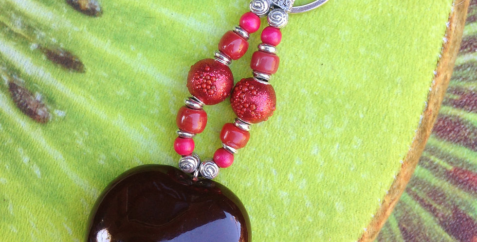 Red Berries - SeaHeart keychain