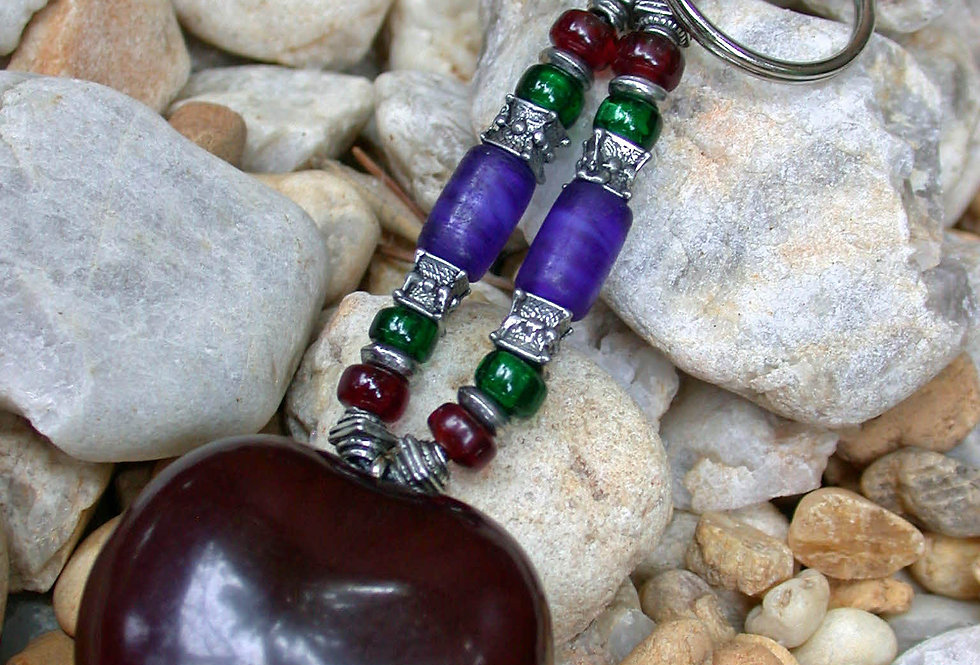 celtic talisman sea heart keychain
