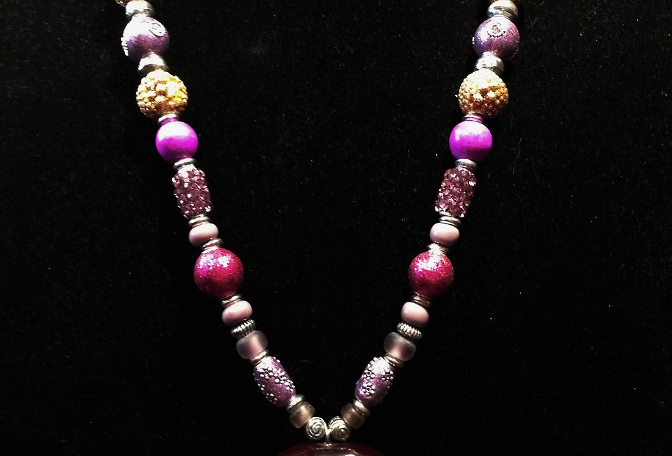 Pink Princess Sea Heart Necklace