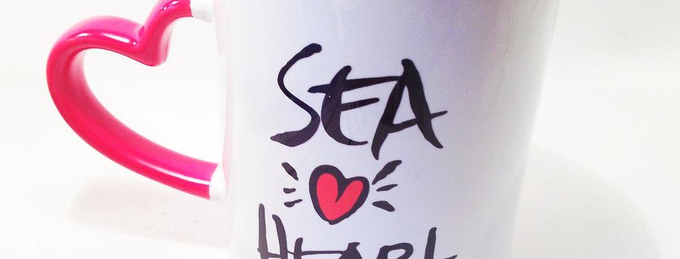 SeaHeart Mug ( Heart Handle)
