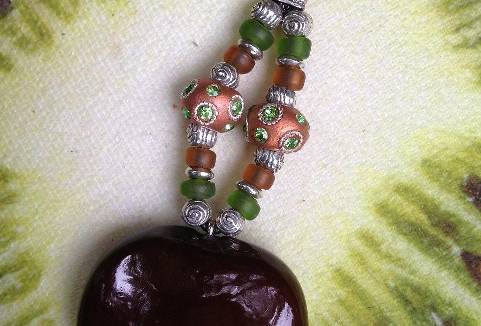 Alien Green - Sea Heart Key Chain
