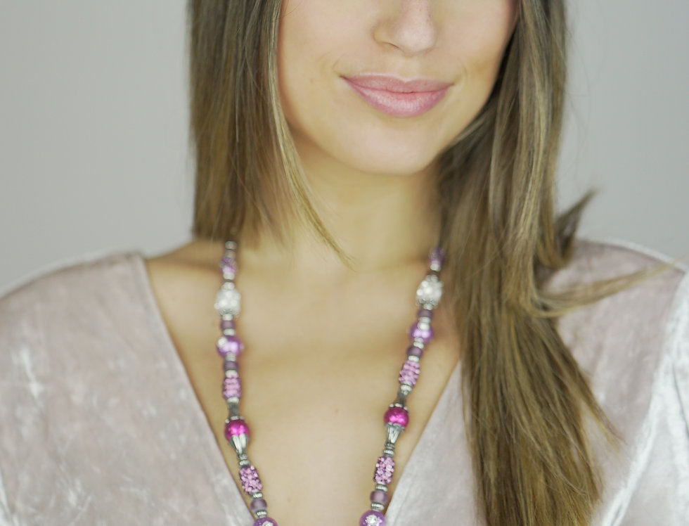 Sea Heart Necklace - Touch of Pink