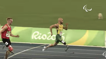 New Paralympic Champ. Men's T42 100m.
