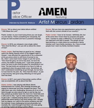 Pastor Marcus Jordan's Interview with Encore Entertainment Magazine