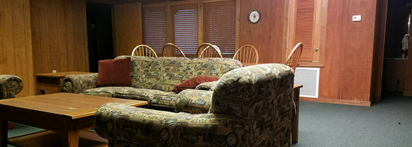 Places to sit in your lodge at Camp Frontier