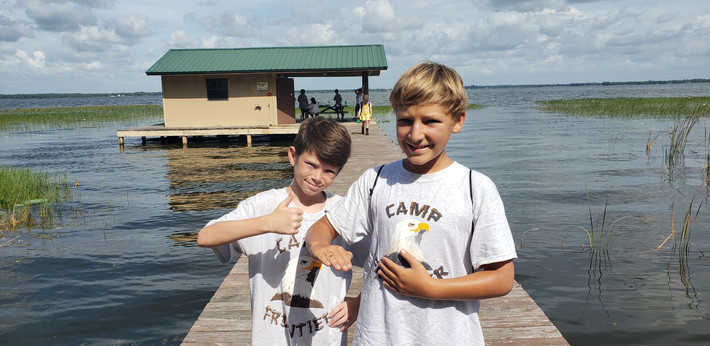 Fishing at Camp Frontier