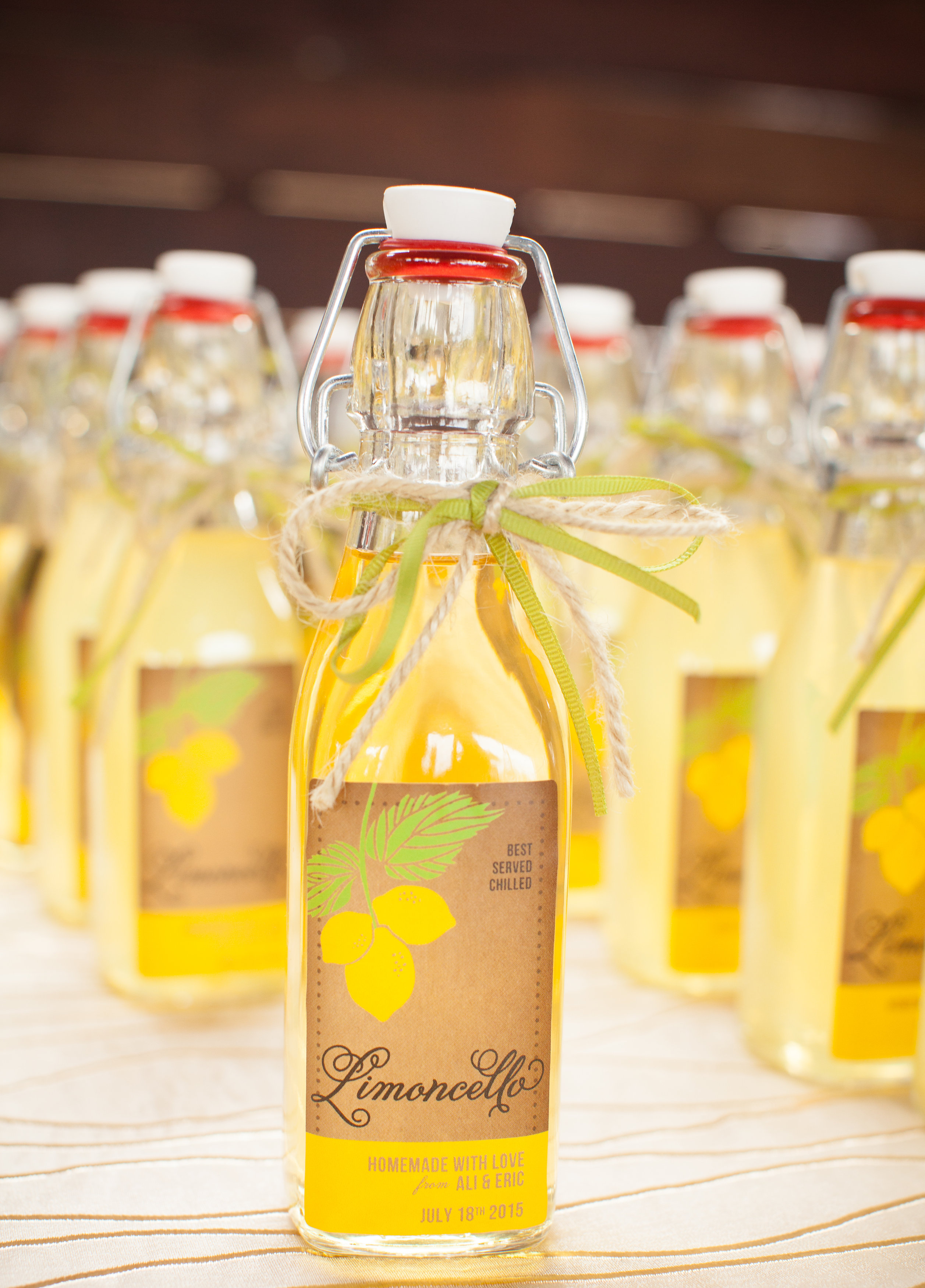 homeade limoncello guest favors