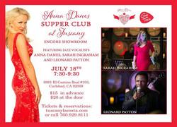 Jazz Supper Club   July 15, 2015