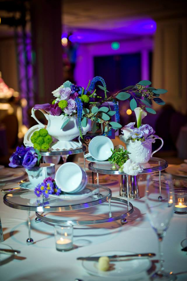 whimsical teapot wedding centerpiece