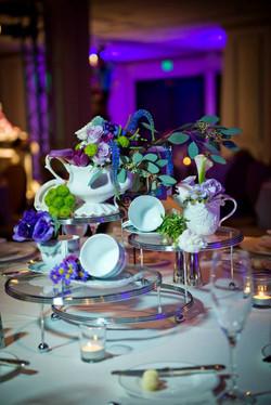 whimsical teapot wedding centerpiece