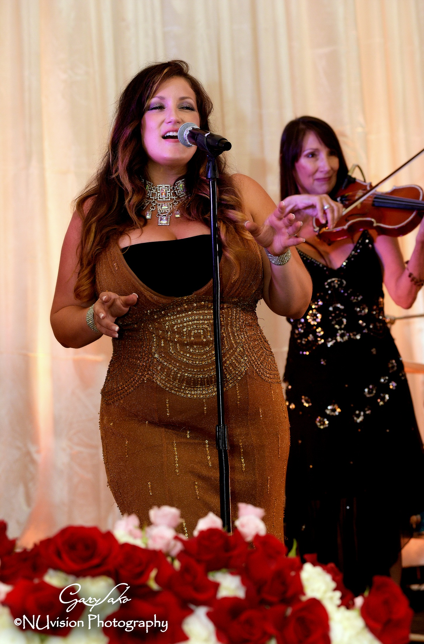 Elegant reception, electric violin