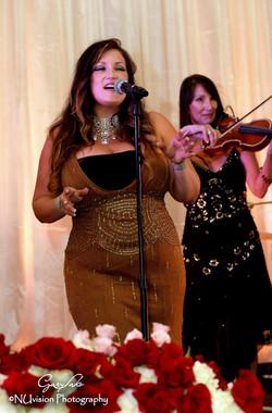 Elegant reception, electric violin