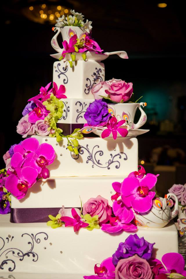 whimsical teapot wedding cake