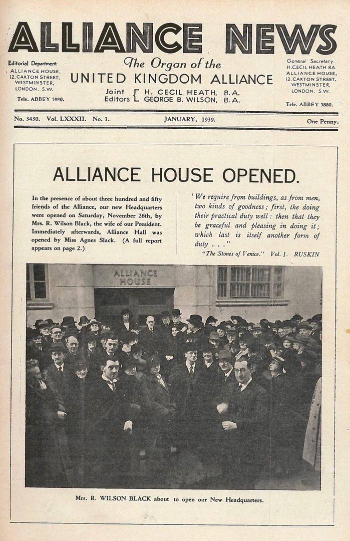 Alliance News, 1939