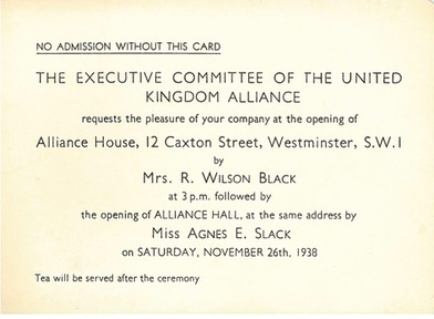 Opening Invitation for the Alliance House Foundation Opening