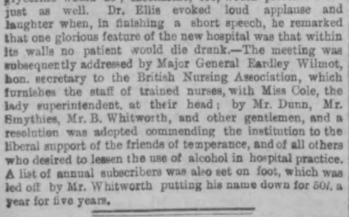 London Temperance Hospital Article