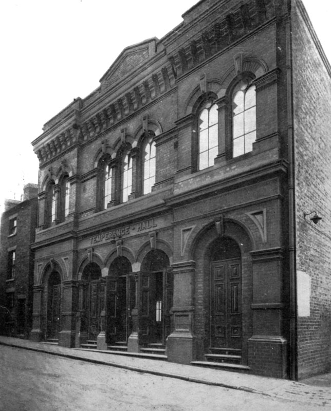 Temperance Hall for the Walsall Temperance Society