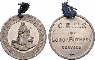Church of England Temperance Society Membership coin
