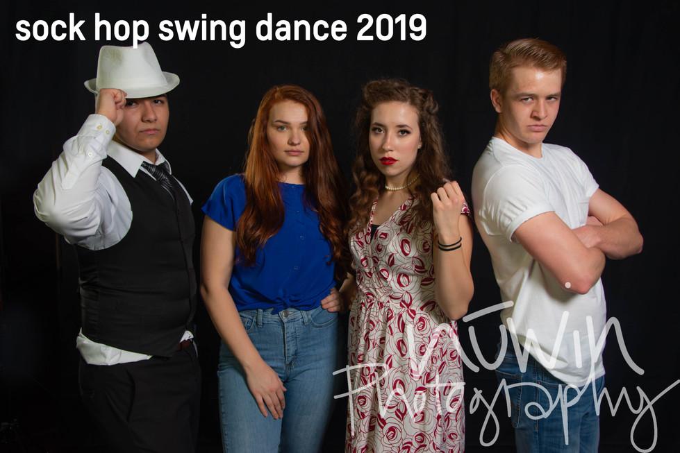 sock hop swing dance party