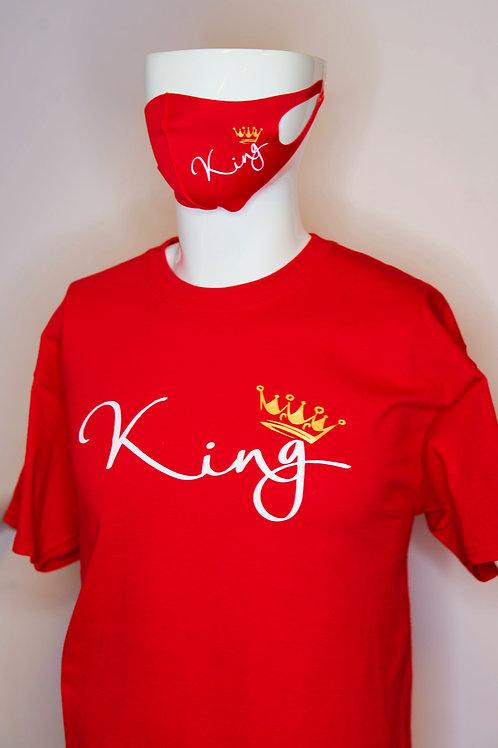 ''King'' Adult Shirts Short Sleeve w/ mask