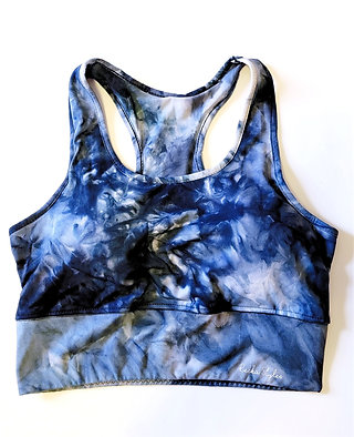 Blue Jean Tie Dye Workout Set