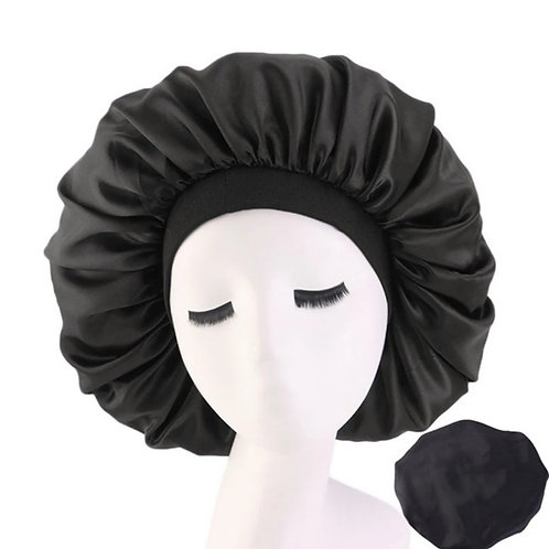 Large Satin Bonnet with band