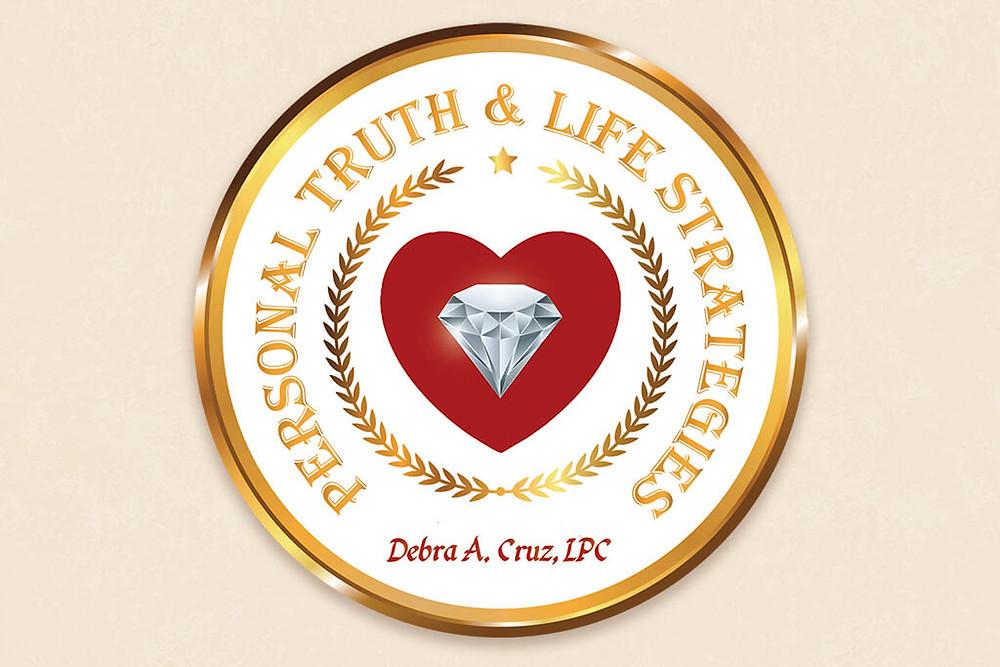 Personal Truth & Life Strategies diamond and heart logo