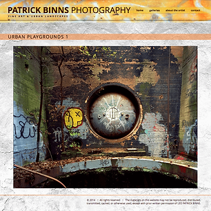 Patrick Binns, Photographer
