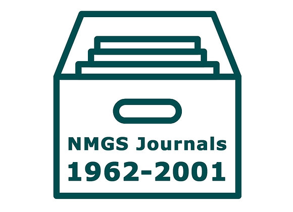 NMGS Journal Archives 1962-2001