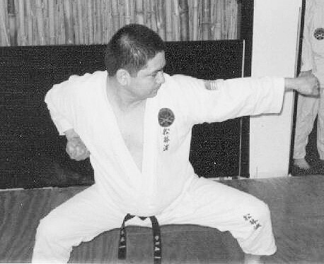 Performing Kata at Sensei Palmer Dojo 1974