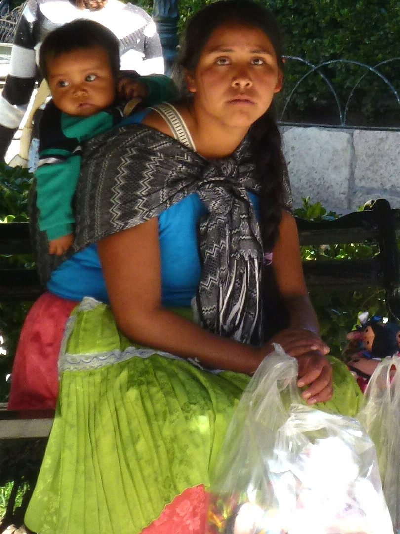 Indio Woman and Child