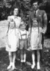 Dr. Elke Hedstrom with her family in 1949