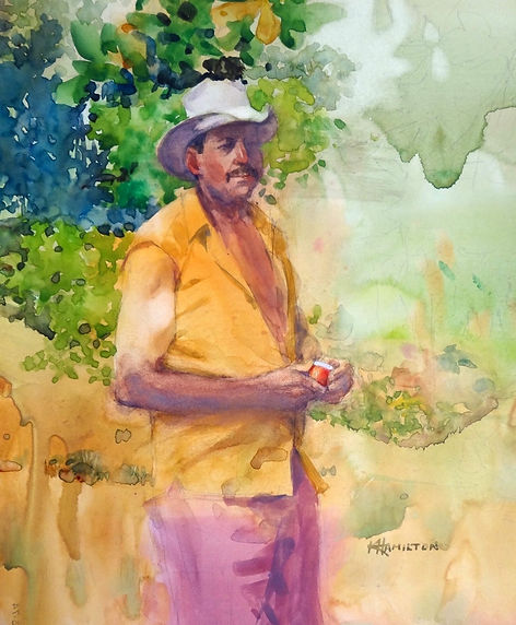 Costa Rican Farmer by Ken C. Hamilton