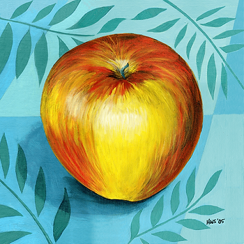 Gala Apple, a painting by Holly Whitstock Seeger