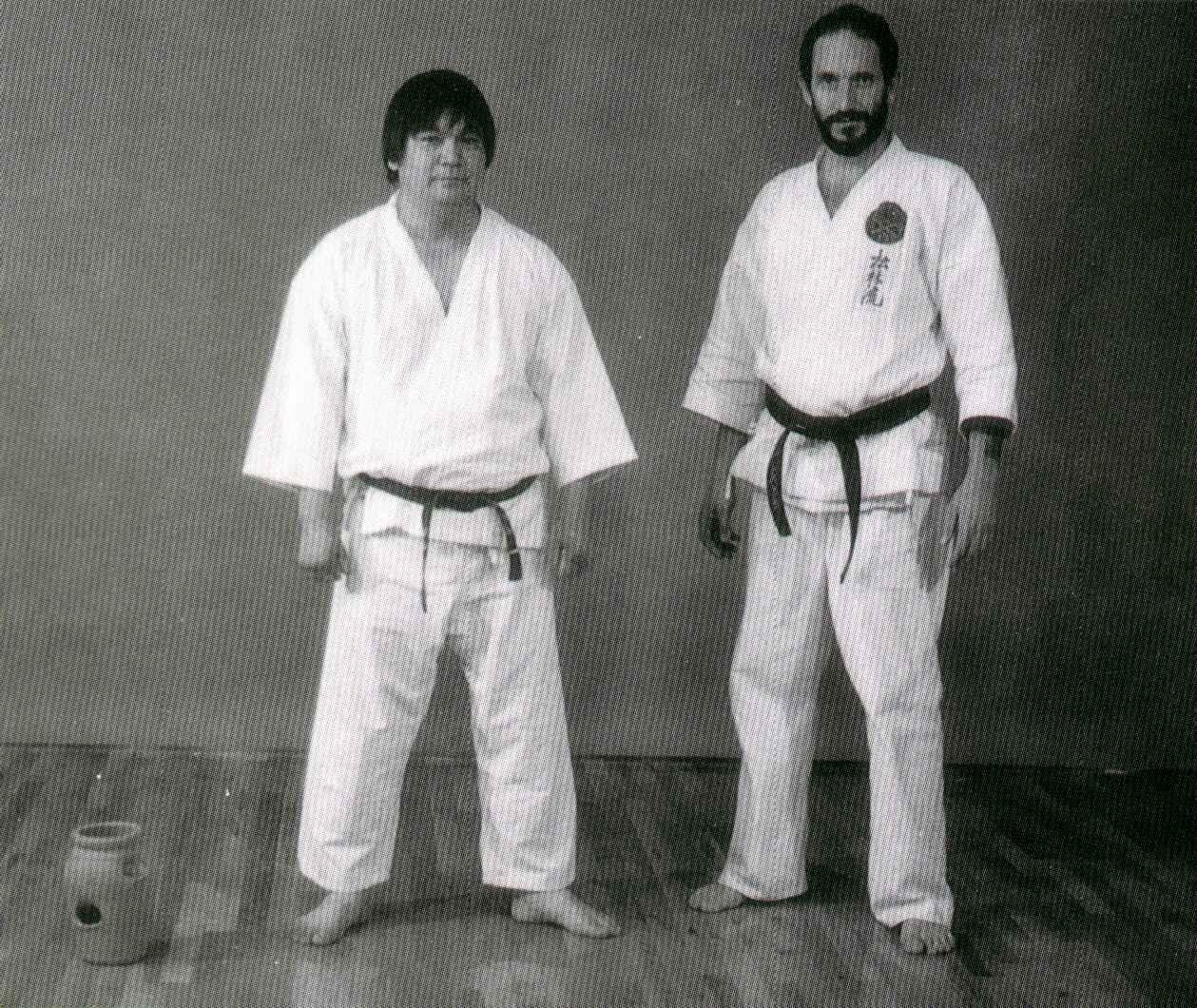 Grand Master Ansei Ueshiro & Kyoshi Robert Scaglione 1992
