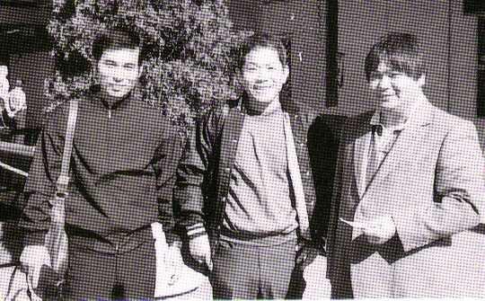 L to R: Oshiro San, Kishaba Sensei, Ueshiro Hanshi
