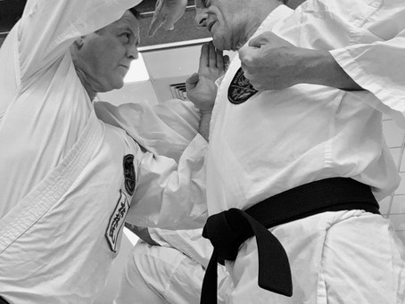 How CLOSE do you visualize your opponents to you [Mai] in kata?