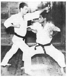 Master Ueshiro and Sensei James Wax