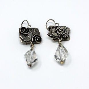 Swarovski Crystal and Sterling Silver Earrings by D-Stinct Designs
