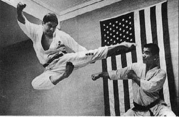 Performing Fying Side-kick