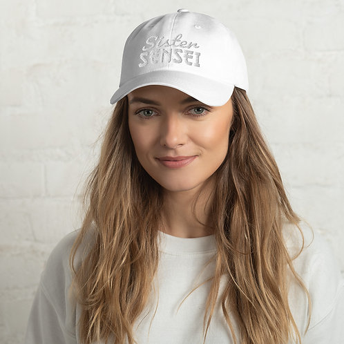 Sister Sensei Classic Dad Hat - White
