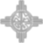 New Mexico Genealogical Society Logo - white with outline