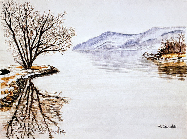 Wintry Hudson River
