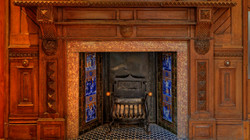 Main entrance fireplace