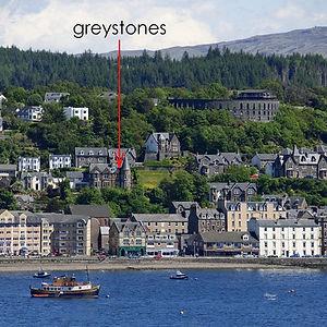Greystones Oban with marker arrow