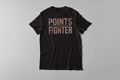 Points Fighter Tee - Glitter Champagne Gold