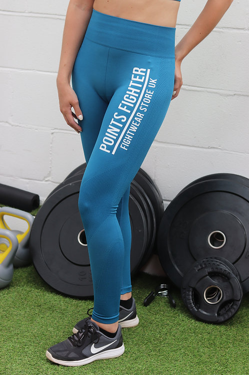 Points Fighter PRO Leggings - Blue