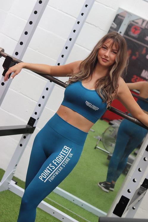 Points Fighter PRO Sports Bra - Blue