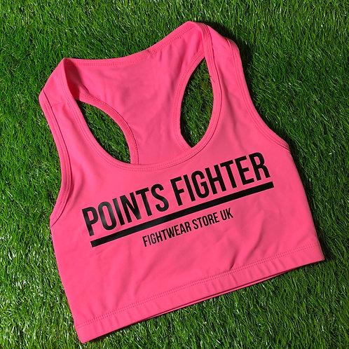 Points Fighter Pink Sports Bra